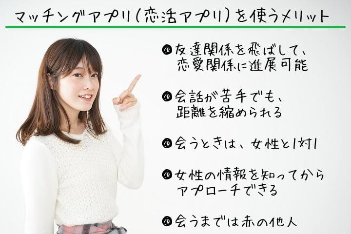 マッチングアプリ(恋活アプリ)のメリット